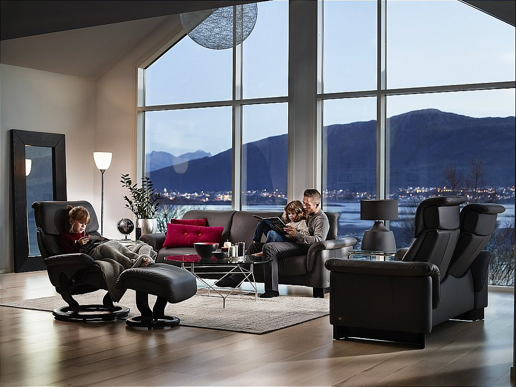 stressless paradise sofas and dream recliner chair batick grey. Black Bedroom Furniture Sets. Home Design Ideas