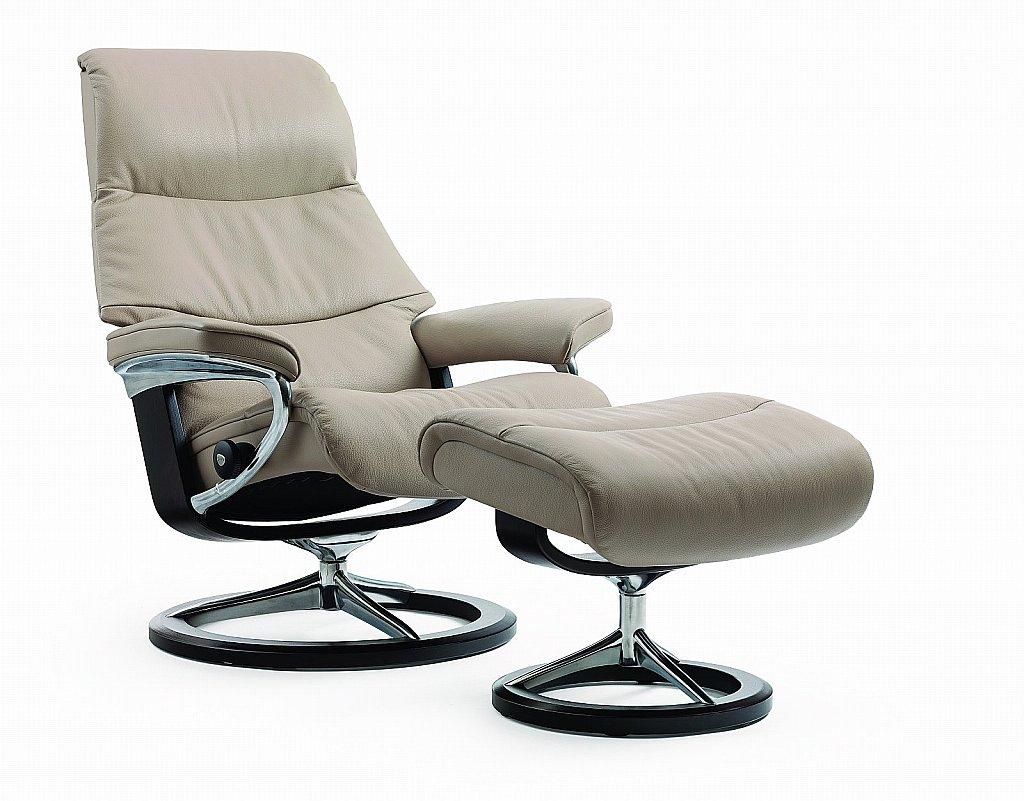 stressless view recliner chair in cori beige. Black Bedroom Furniture Sets. Home Design Ideas