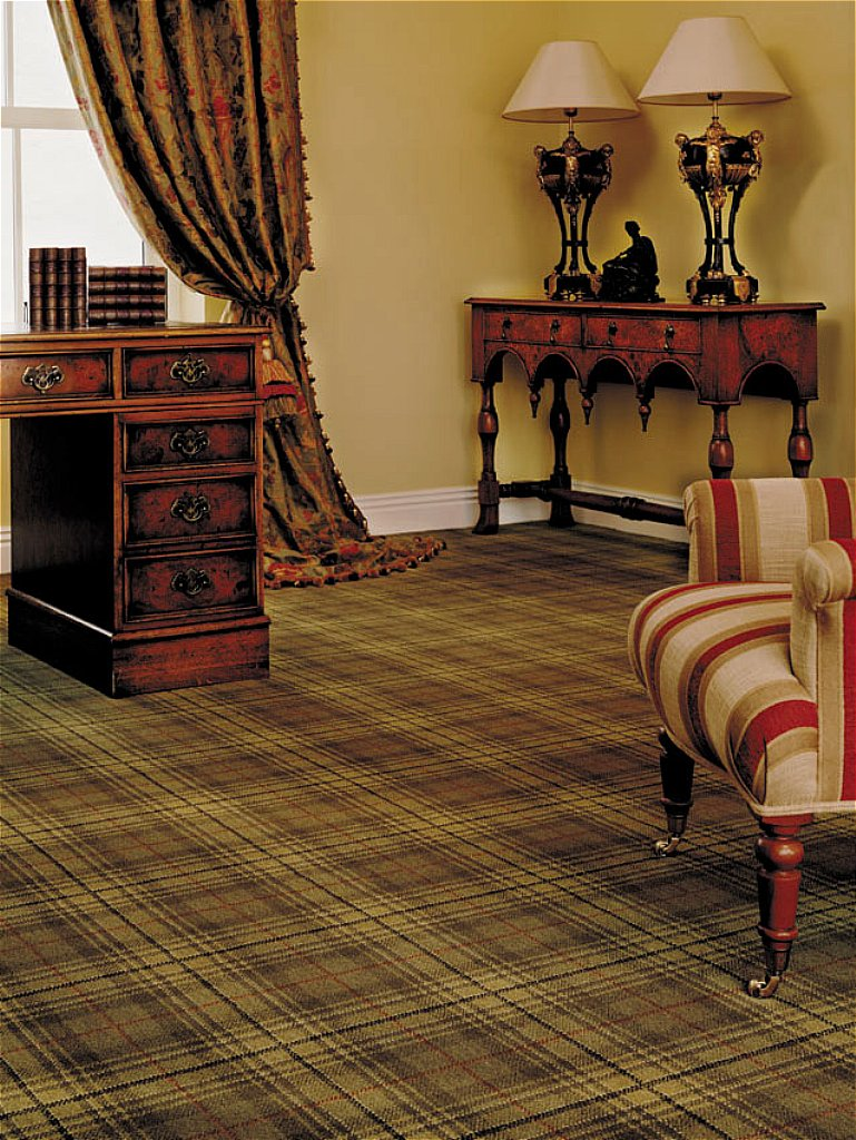 Ulster Carpets   Country House Collection Beaumont Carpet   Antique Green