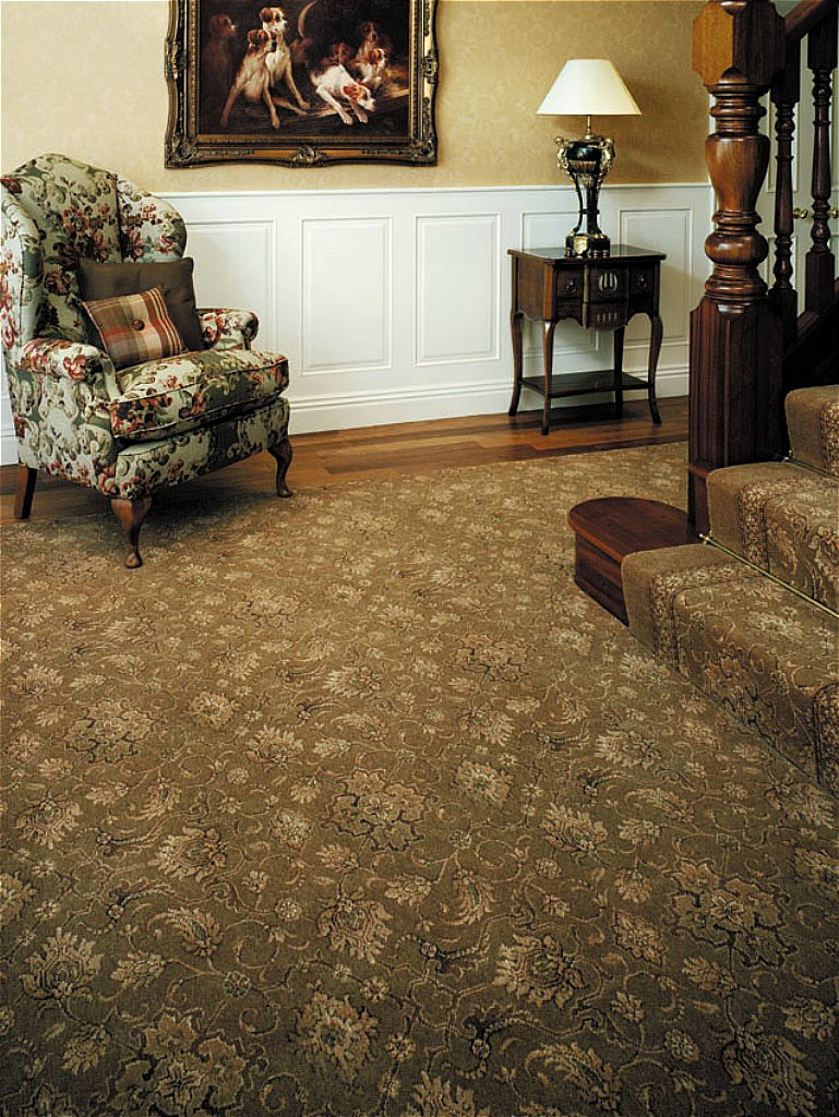 Ulster Carpets   Country House Collection Carpet   Kazan Runner   Tench  Green