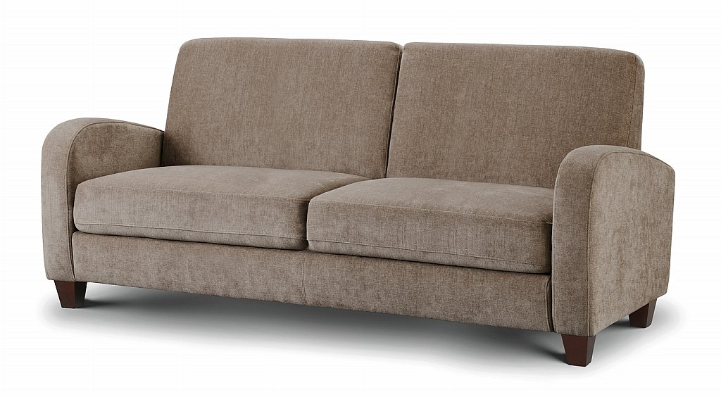 Julian bowen vivo sofa bed in mink for Sofa bed 65 inches