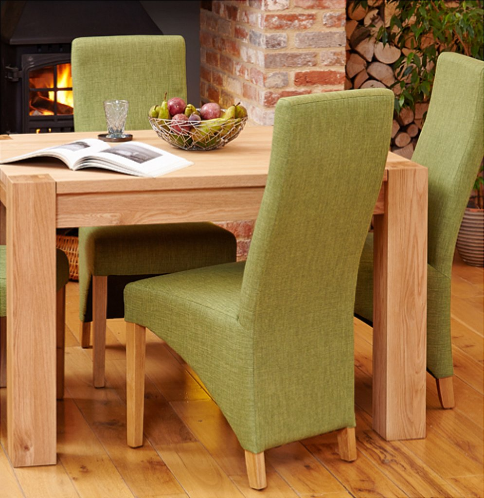 Image Baumhaus Mobel In Baumhaus Mobel Oak Pair Of Full Back Upholstered Dining Chairs
