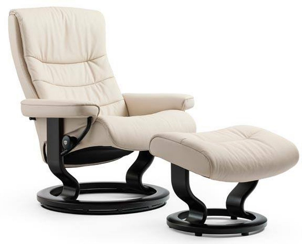 Stressless Nordic Leather Recliner With Classic Base