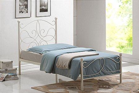 Melissa Ivory Metal Bed
