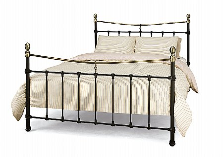 Edwardian II Bedstead in Black with Antique Bronze