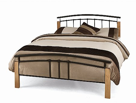 Tetras Bedstead in Black and Beech