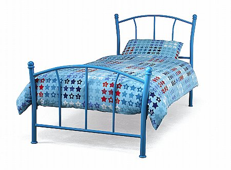 Penny Bedstead in Blue Gloss