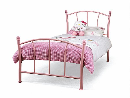 Penny Bedstead in Pink Gloss