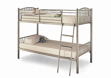 Oslo Twin Bunk Bed in Silver
