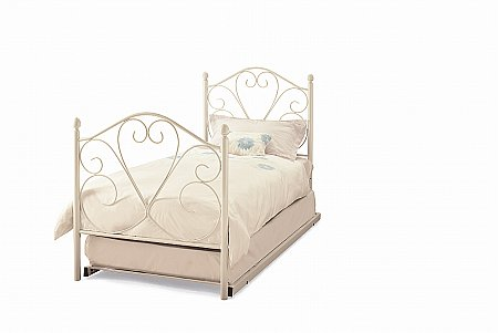 Isabelle Guest Bed in White Gloss