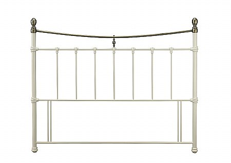 Edwardian II Headboard in Ivory with Antique Bronze