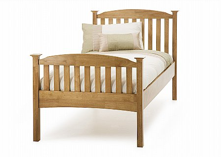 Eleanor Single High Foot Bedstead in Honey Oak