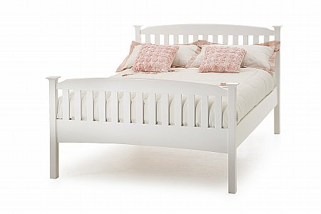 Eleanor High Foot Bedstead in Opal White