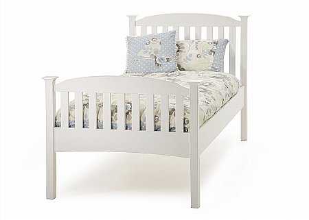 Eleanor Single High Foot Bedstead in Opal White