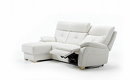 Florac Chaise Style Leather Sofa