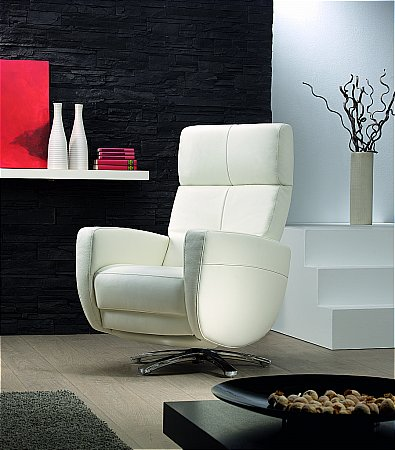 Twist Leather Manual Recliner Chair