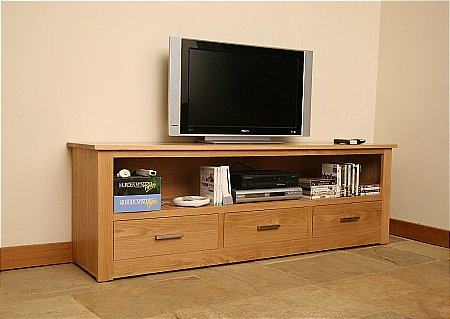 Elements 6ft 2in Entertainment Unit with 3 Drawers