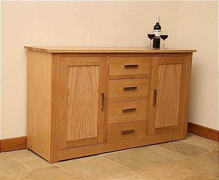 Elements 5ft Sideboard with Centre Drawers