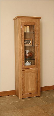 Elements Narrow Glazed Bookcase