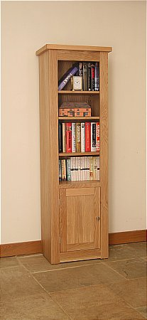 Elements Narrow Bookcase with Bottom Cupboard