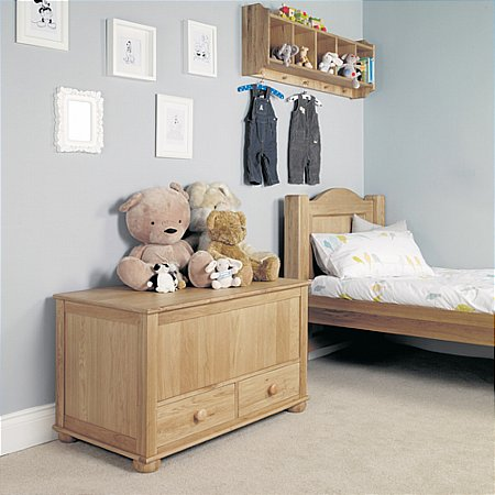 Amelie Oak Toy Box