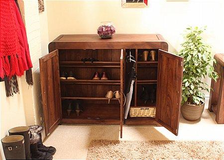 Shiro Walnut Extra Large Shoe Cupboard