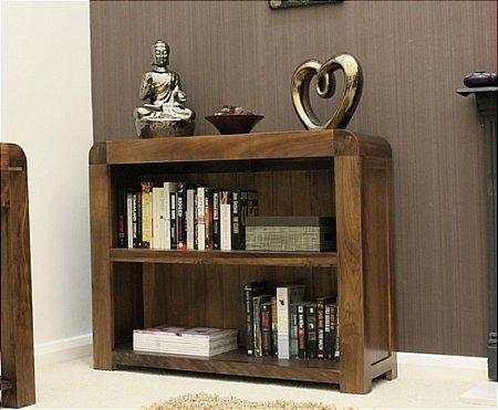 Shiro Walnut Low Bookcase