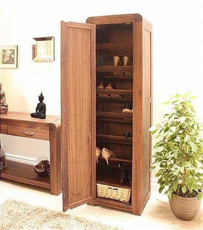 Shiro Walnut Tall Shoe Cupboard
