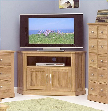 Mobel Oak Corner TV Cabinet