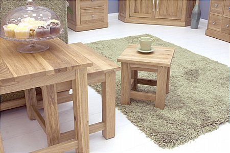 Mobel Oak Nest of Tables