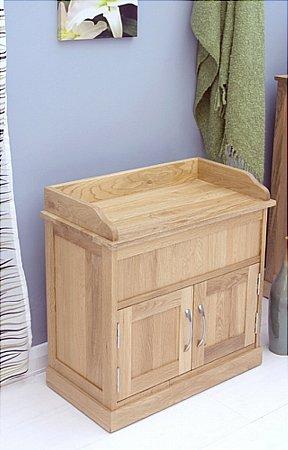 Mobel Oak Shoe Bench