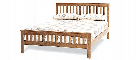Amelia Bedframe in Honey Oak