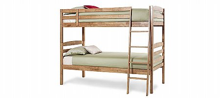 Brooke Bunk Bed in Honey Oak
