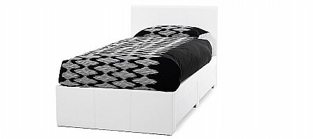 Latino Single Bedstead in White