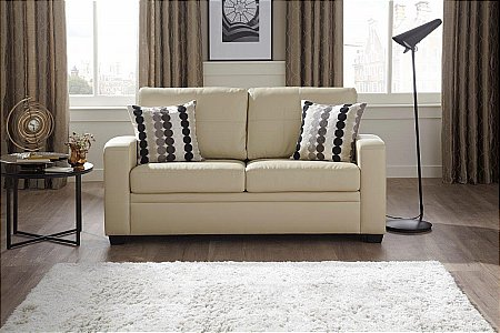 Turin Leather Sofa Bed in Cream