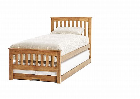 Amelia Guest Bed in Honey Oak