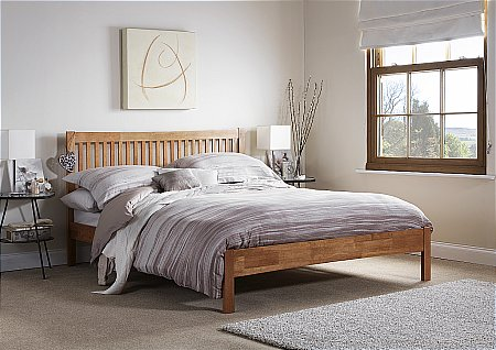 Mya Bedframe in Honey Oak
