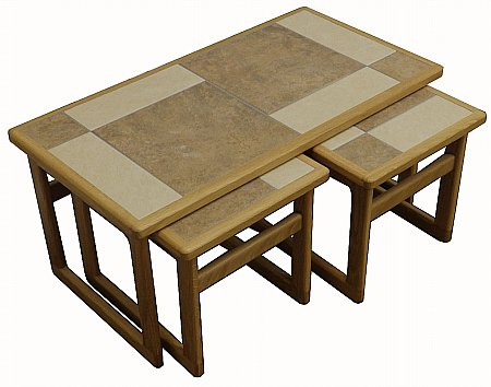 Mocha Tiled Top Lounge Nest of Tables
