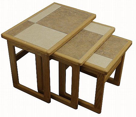 Mocha Tiled Top Large Nest of Tables