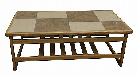 Mocha Tile Top Large Coffee Table