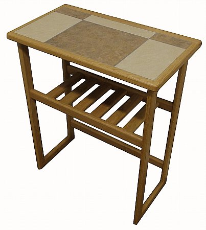 Mocha Tiled Top Hall Table