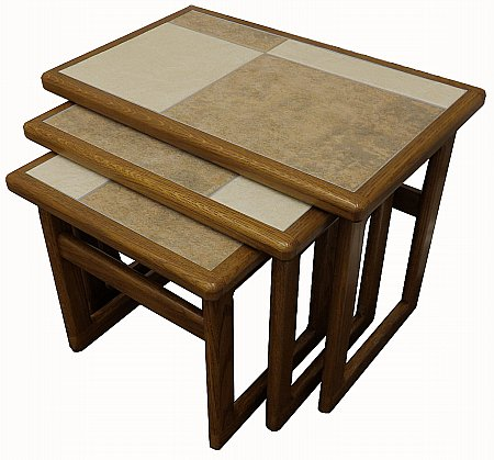 Mocha Tiled Top Small Nest of Tables
