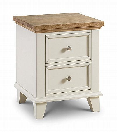 Portland 2 Drawer Bedside Cabinet