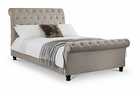 Ravello Deep Buttoned Scroll Bed