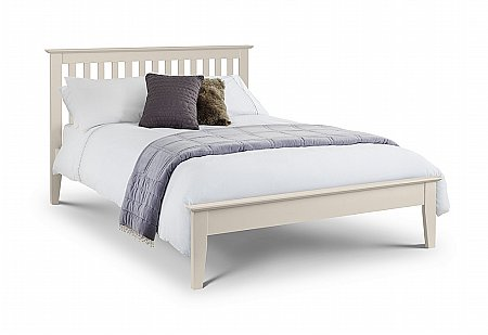 Salerno Bed in Stone White