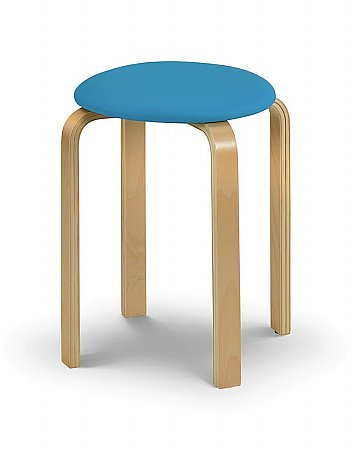Dandy Stool with Blue Seat