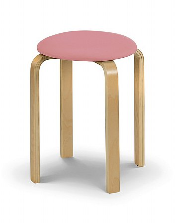 Dandy Stool with Pink Seat