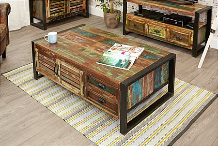 Urban Chic Large Coffee Table with Drawers