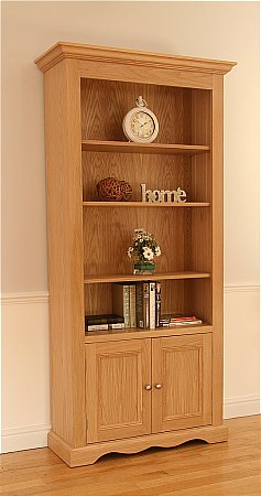 Pelham Wide Open Bookcase with Door