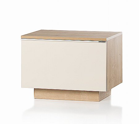 Fusion Storage Unit in Oak and Cream